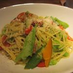 阿佐ヶ谷のイタリア料理ガッターロ - パンチェッタと夏野菜のパスタ