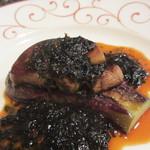 馨 - フランス産フォアグラ、有明海の海苔ソース アップ