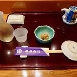 亀喜寿司 - お通しはマグロの甘辛煎り