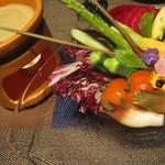 15680409 - 地元野菜のバーニャカウダ