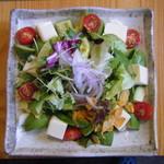 るぱん - アボカドと豆腐のサラダ ドレッシングは4種類から選択 580円