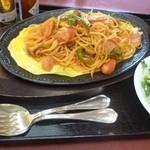 新南愛知カントリークラブ - 2012.11 鉄板焼きスパ、昔懐かしい味のスパです(1050円)♪