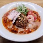 らぁ麺 ふじ松 - 冷やしトマト担々麺900円