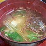 和風レストラン 松竹 - 味噌汁の良いダシ味