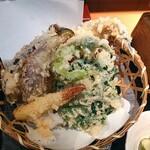 蕎膳 楽 - 天ぷら盛り合せ