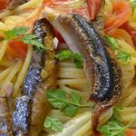 ピッツェリア ピッキ - 旬魚と長野県竹内農園さんのペペロンチーノ 1200円