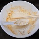 156847248 - あんまりお腹が減ってないけど完食!                         食欲が落ち着いていると評価は当然かなりシビアとなる                         なのにスープ飲むのが『どうにも止まらない!』(笑)