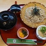 156849262 - 豊橋牛の寿き焼き丼+にかけ・ざる