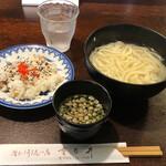重乃井 - 料理写真:釜揚げうどん並660円平日ランチサービスちらし選択