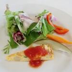ハーブ&おいしい野菜塾レストラン - 料理写真:・「ランチセット(¥1600)」の前菜。