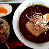 小舟 - 料理写真:ミニ小舟やきとり丼とカレーラーメンのセット