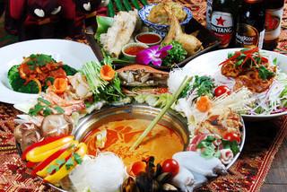 アジアン バンブーン - 花鍋イメージ