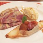 ガネーシュ - 2012秋を愉しむコース(3500円)の秋の味覚 バニラアイスを添えて