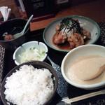15689641 - 揚げ若鶏定食(みぞれがけ)