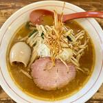 東京味噌らーめん 鶉 - 料理写真:みそらーめん(ぶさ玉トッピング)