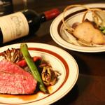 ブルーノテラス - おすすめはコース料理。メインが2種類付いて3500円から。