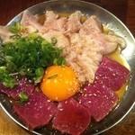 15690579 - <スペシャリテ>渋谷最強生肉盛合せ(ガツ・白せんまい・ハツ)