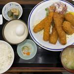 たまごや食堂 - 料理写真:ミックスフライ定食  900円