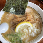 つけ麺屋 焚節 - 濃厚魚介らーめん+メンマ