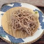 オーベルジュ・グリンデル - ざる蕎麦(在来種:奈川小粒)