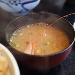 せかい鮨 - 南蛮海老の味噌汁