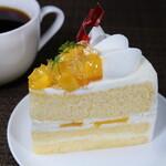 セキト - 料理写真:マンゴーのショートケーキ