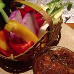 15693554 - 群馬の生野菜盛り(雷味噌つき)