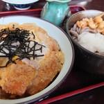 156930933 - カツ丼 & ミニそば①
