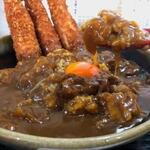 たつや - エビカレー丼(エビ三本)
