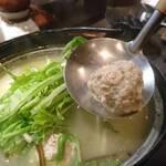 炭火やきとり 萩 - 鶏出汁つみれ汁