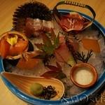 15695292 - 直送鮮魚の四種盛合わせ(¥1,560)
