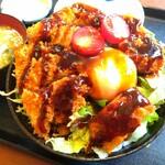 たかお食堂 - ■ソースかつ丼(温泉卵)