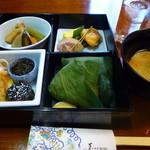 草乃 - 2012年10月訪問時Bランチセット(豚汁付き) 1350円