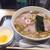 日吉 大勝軒 - 料理写真:チャーシューワンタンメン1150円と生卵50円