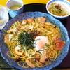 五右衛門 - 料理写真:【2012-09-26】Bランチ:秋のきのことサーモンと豚肉のよくばりスパゲッティー