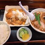 福味 - 料理写真:2.ミニ煮込みカツとミニラーメンセット(750円)