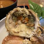 Famiriresutoranhirosesushimasa - カニ定食 1,350円 (佐渡島の毛ガニ内子)
