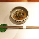 157016105 - つきだし(鱧皮ときゅうりの酢の物)
