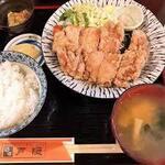 戸隠 - ランチタイムの1番人気ザンギ定食