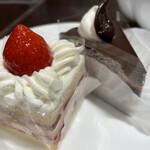 フォートナム・アンド・メイソン・ティーショップ - ショートケーキとザ・ハットルテ