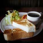 コーヒーハウス ブリッヂ - Bモーニングセット[¥570]