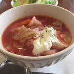 海燕 - 料理写真:追加のボルシチ小