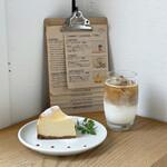 スイドウミチ コーヒー - チーズケーキ、カフェラテ