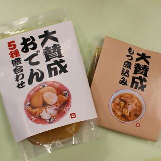 関東風に味付けしたおでんやもつ煮が絶品!麺メニューも◎