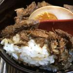 麺屋 ひしお - チャーシュー丼 アップ