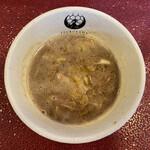 一乗寺つるかめ -  魚介醤油つけ麺(大300g) 850円 (つけ汁)