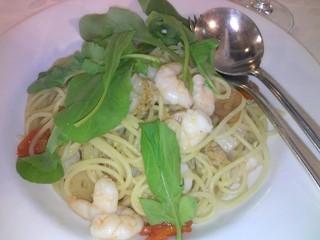 リストランテ・マリオ - エビ小柱プチトマトにルコラのオリーヴオイルのスパゲティ/パスタランチ