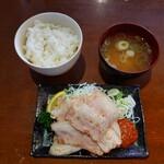 酒蔵 力 - 豚カルビ定食 700円