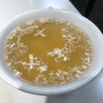 梅華 - 付け合わせのスープ