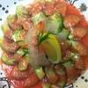 伊酒屋Ottimo - 料理写真:生海老とアボガドのイチゴソース